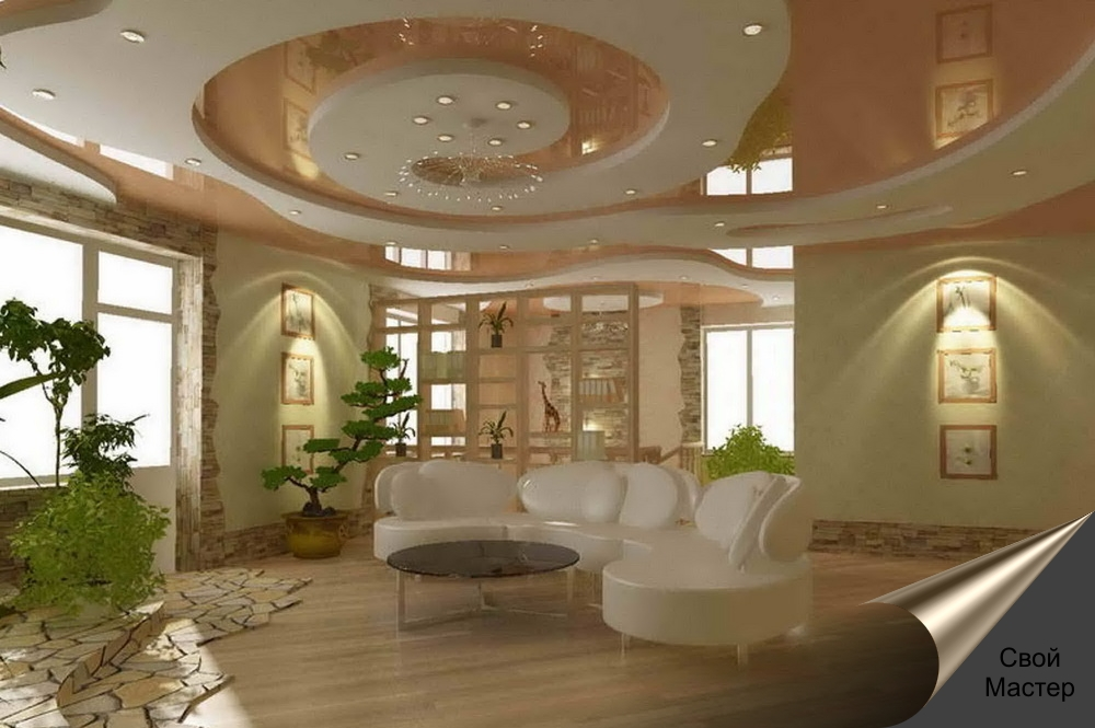 Дизайн проект гостинной комнаты - Свой Мастер