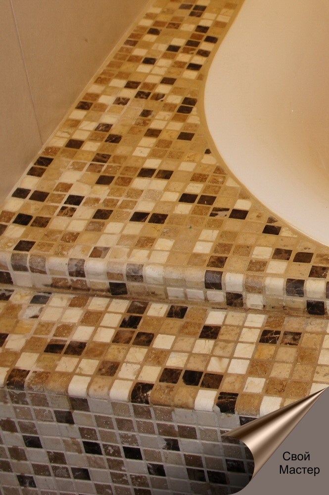 мозаика, обложена ванна мозаикой - Свой Мастер