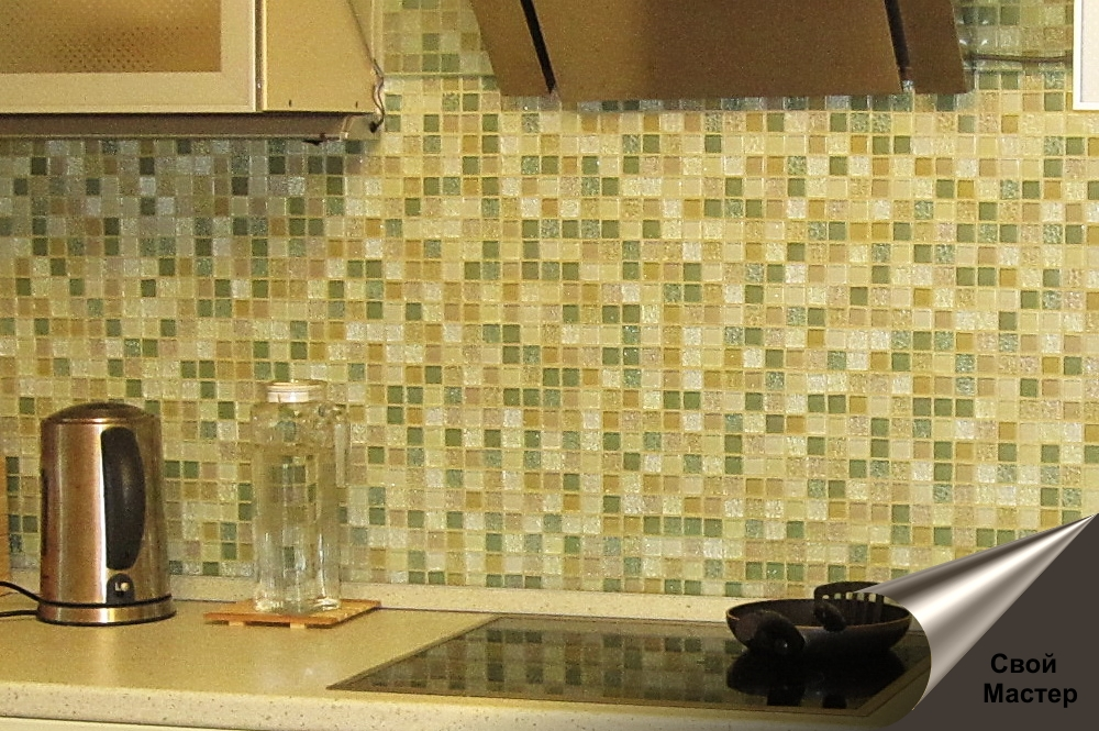 мозаика, укладка мозаики в кухонный фартук - Свой Мастер