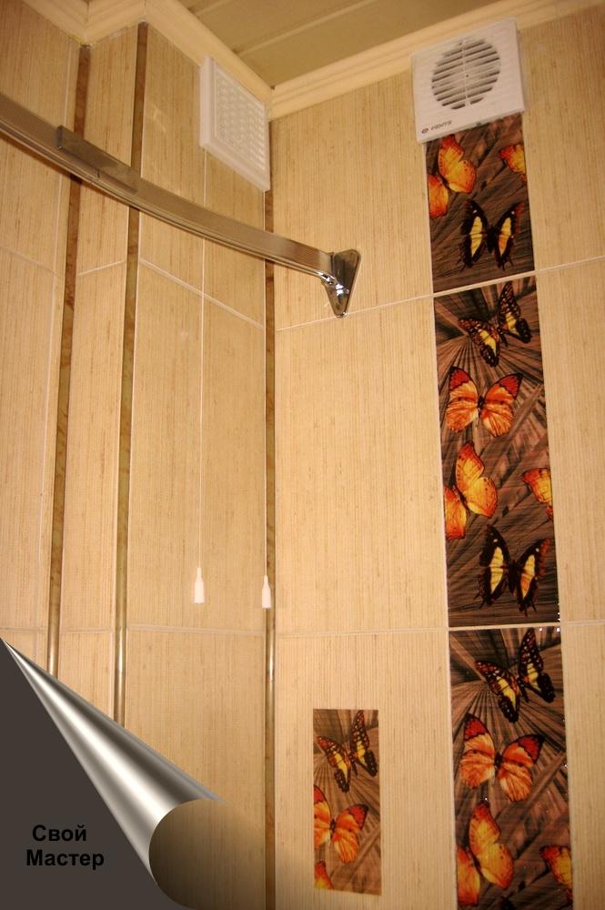 плитка в ванной комнате, обкладка короба - Свой Мастер