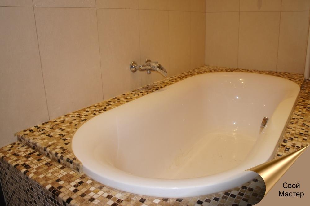 плиточные работы, ванная в мозаике - Свой Мастер