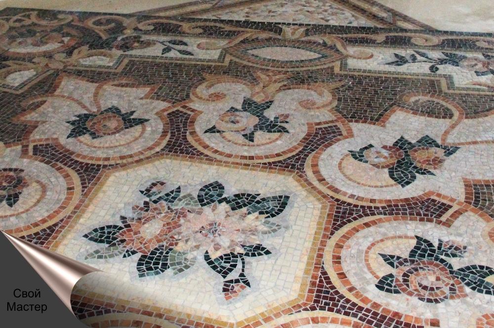 укладка мозаики рисунком, панно из мозаики - Свой Мастер
