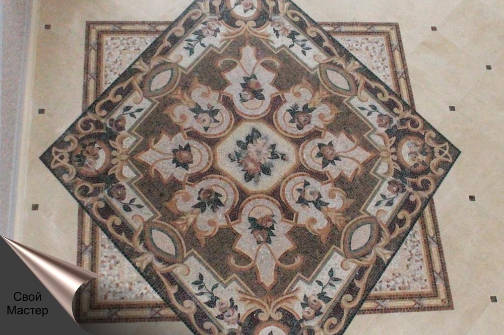 укладка плитки рисунком, панно из мозаики - Свой Мастер