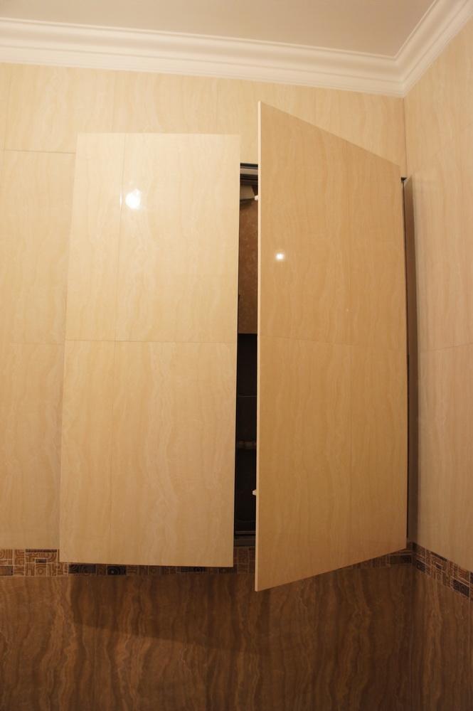 люк - невидимка с двумя дверками для коммуникаций - Свой Мастер