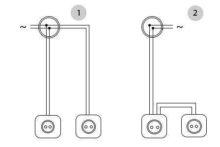 Схема соединения розеток