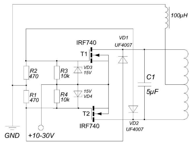 Схема индукционного нагревателя своими руками фото